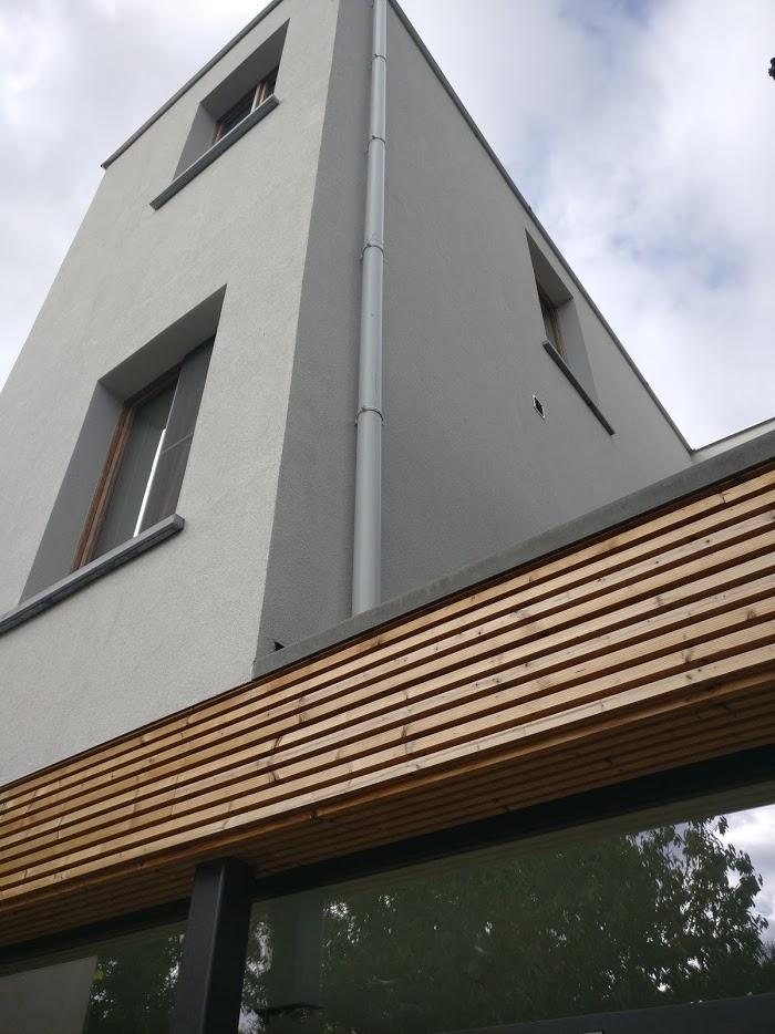 Isolatie-en houten gevelbekleding in Berchem